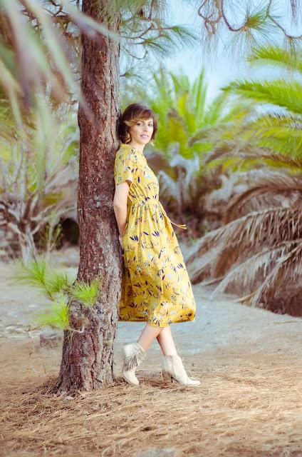 Floral-Print-Drawstring-Dress-Zaful
