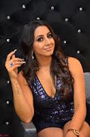 Sanjana looks happy in sparkling short Deep neck Purple Gown ~  Exclusive 83.JPG