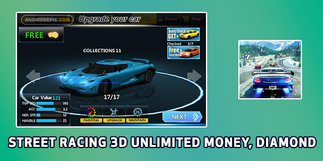 Download Street Racing 3D Mod Apk Terbaru Unlimited Money, Diamond - Street Racing 3D Mod Apk Android unlimited money dan diamond gratis di android