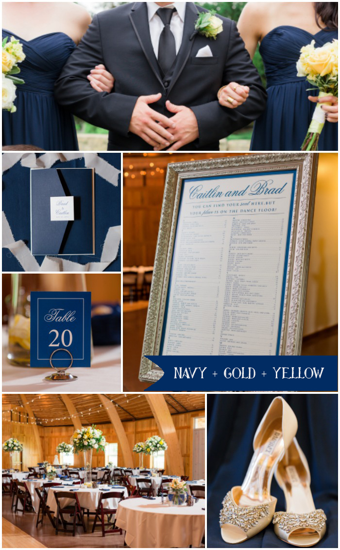navy gold yellow inspiration board