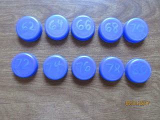 Skip Counting by 2's Bottle Caps