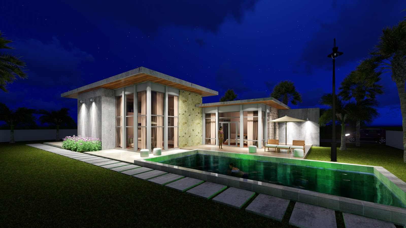House Plan Map Sketchup One Story House 3bedroom Exterior