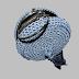 Clutch blue lurex