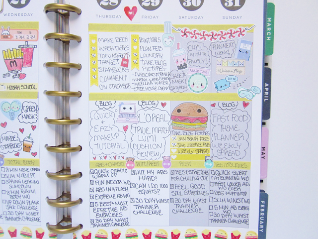 Fast Food Theme Planner Spread