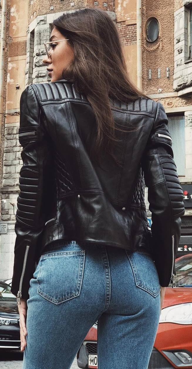 leather and denim | moto jacket + jeans