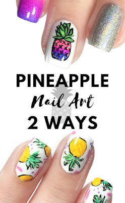 Pineapple Nail Art 2 Ways