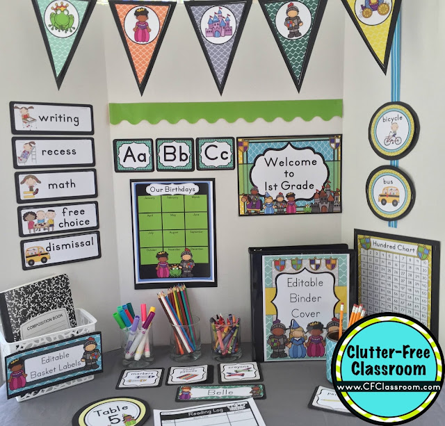 Are you planning a Fairy Tale themed classroom or thematic unit? This blog post provides great decoration tips and ideas for the best Fairy Tale theme yet! It has photos, ideas, supplies & printable classroom decor to will make set up easy and affordable. You can create a Fairy Tale theme on a budget!