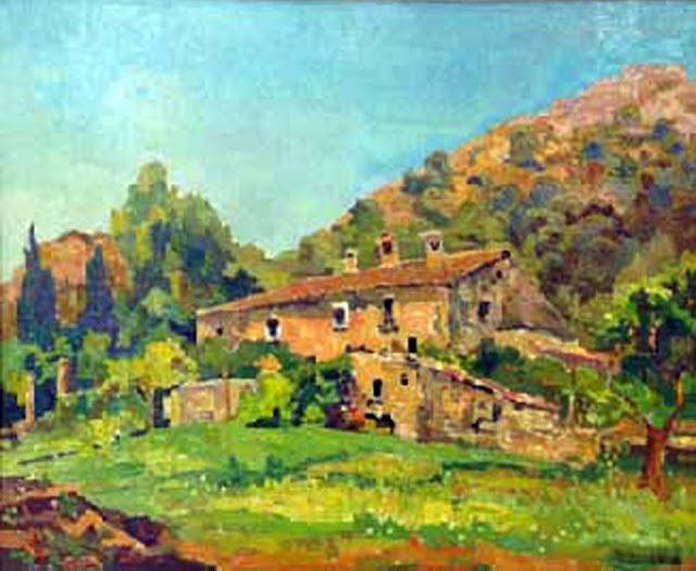 Paisaje de Mallorca, Josep Vives i Llull, Mallorca en Pintura, Mallorca pintada, Paisajes de Mallorca