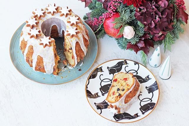 Χριστουγεννιάτικο Κέικ με Αποξηραμένα Φρούτα