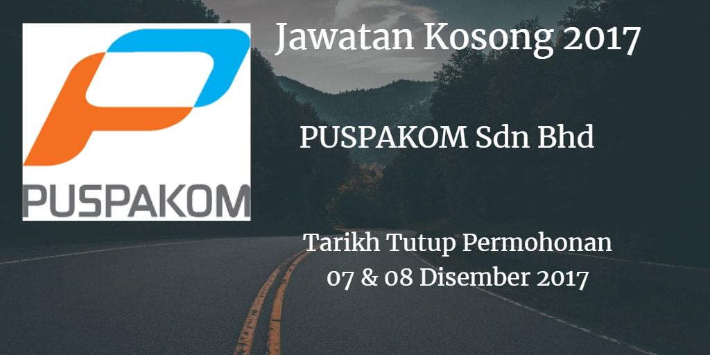 Jawatan Kosong PUSPAKOM Sdn Bhd  07 & 08 Disember 2017