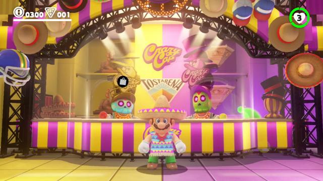 Super Mario Odyssey Mexican sombrero poncho