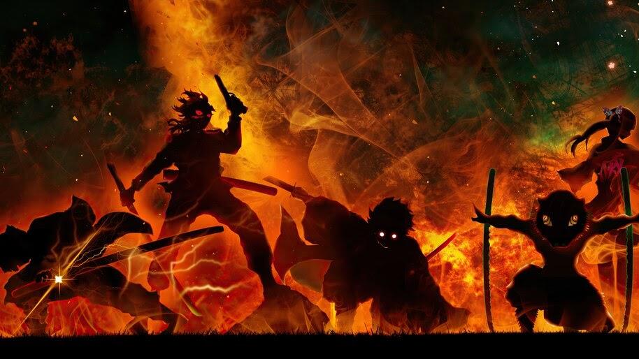 Kimetsu no Yaiba, Demon Slayers, 4K, #7.1410