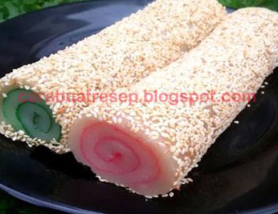 Foto Resep Kue Moci Gulung Wijen (Mochi Roll) Sederhana Spesial Asli Enak