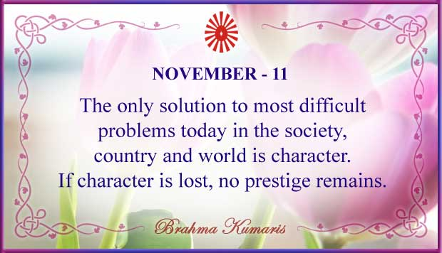 Thought For The Day November 11