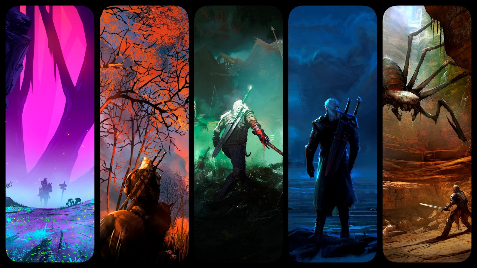 The Witcher phone wallpaper collection