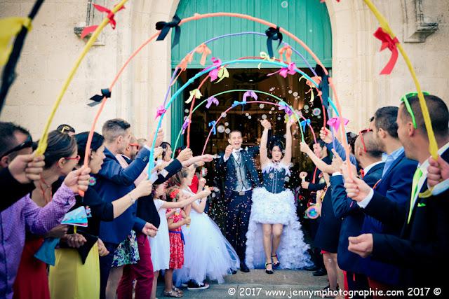 sortie des mariés, reportage photos sortie d'église