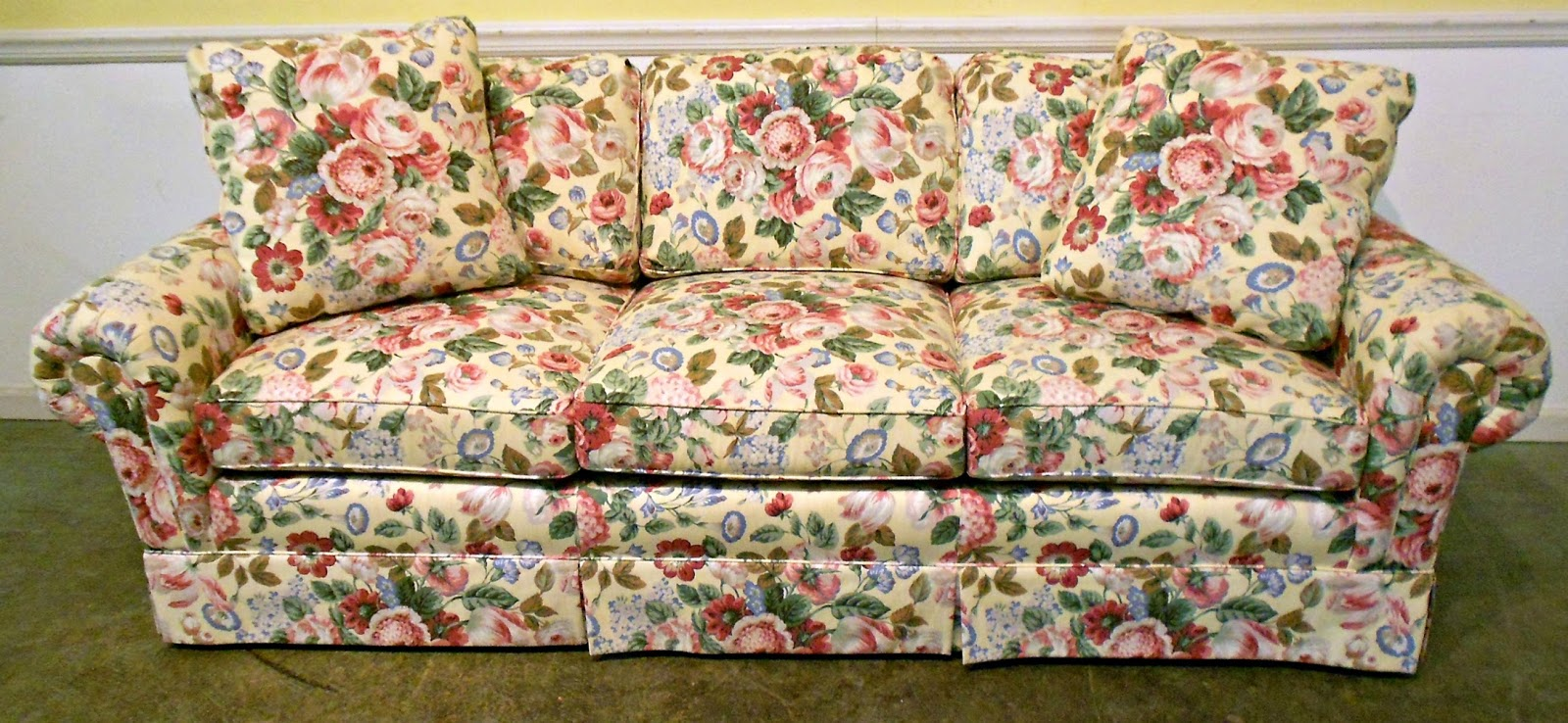 Favorite floral fabric round up restyle it wright Fabric sofas and loveseats