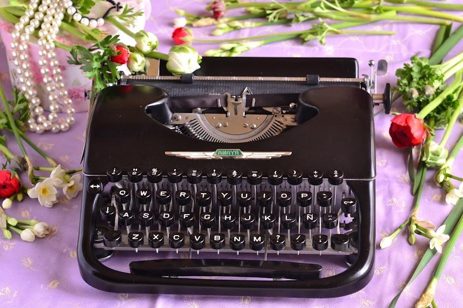 Maquina de escribir decoracion bodas vintage