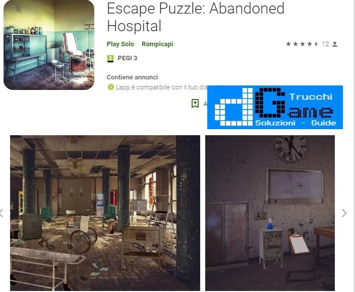 Soluzioni Escape Puzzle: Abandoned Hospital livello Unico | Trucchi e Walkthrough level