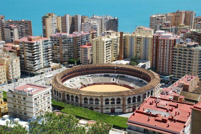 Vista da Praça de Touros em Málaga