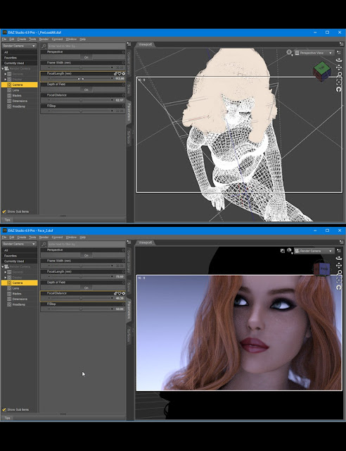 Rendering Female Faces In Daz Studio