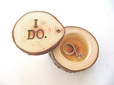 woodland wedding ideas, wooden wedding ring box
