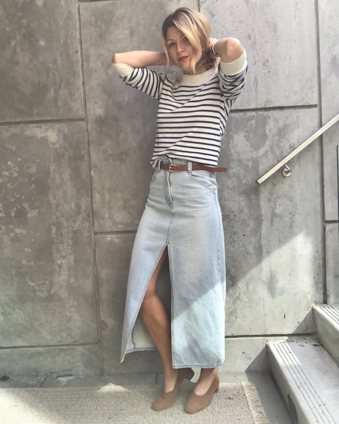 Fashion It Girls Are Loving Denim Skirts for Spring