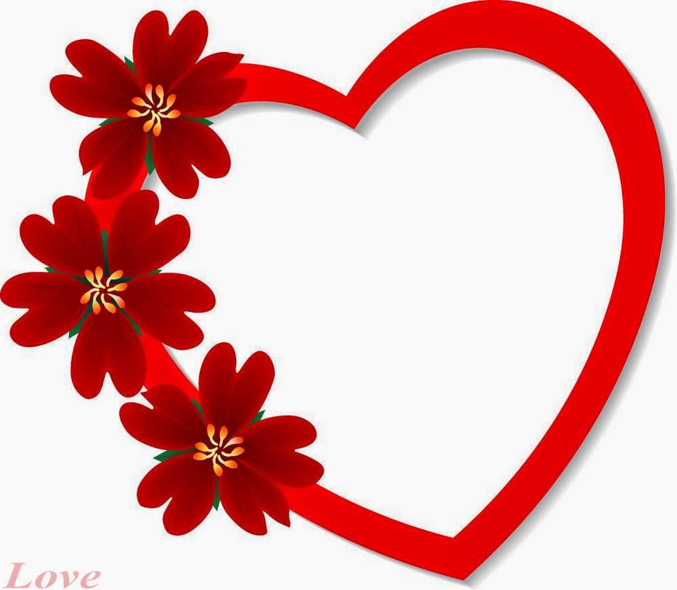 heart floral frame valentine - photo #20