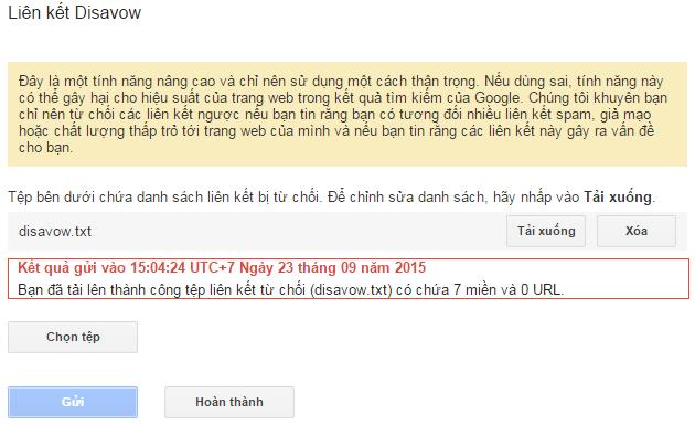 Chọn tập tin .txt có chứa danh sách domain và URL