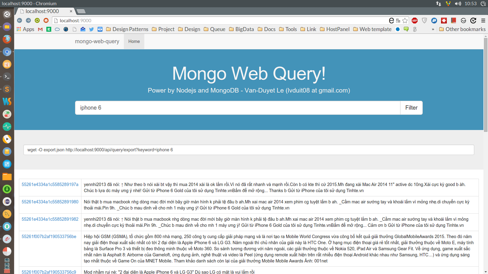 Github project - Mongo-Web-Query - Simple MongoDB Query base on Nodejs and MongoDB