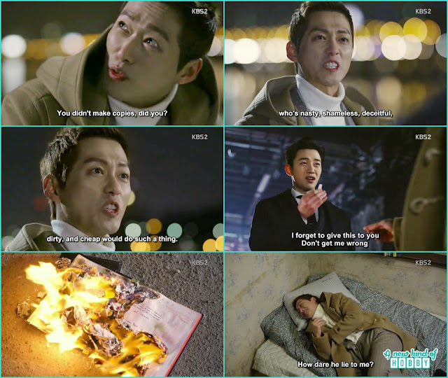 chief kim annoy and indirectly curse director seo yool to give him his accounting books so that he can get rid of them but seo yool make copies of it lolx