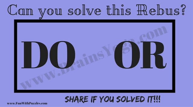 Rebus Brain Teaser Question
