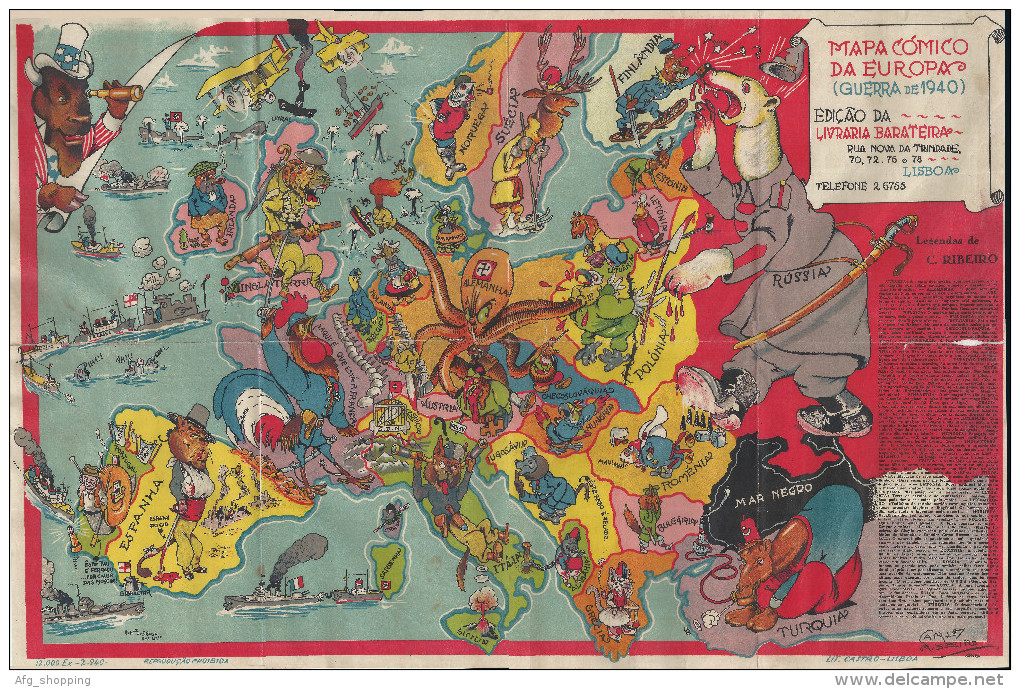 A collection of satirical maps of Europe - Vivid Maps