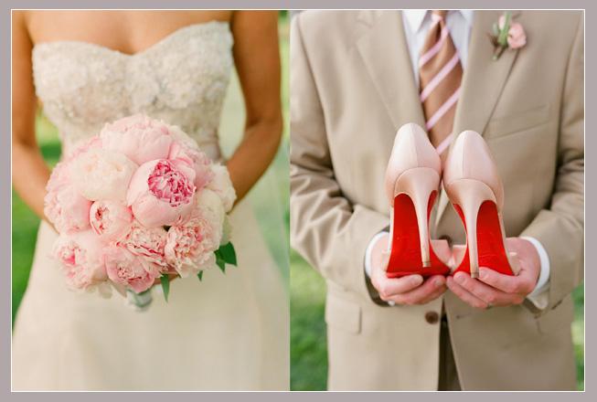 00daa2745 Combinar o buquê com os sapatos de noiva? 1
