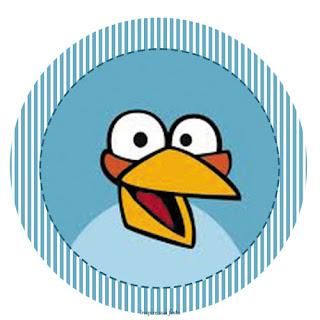 Toppers o Etiquetas para Imprimir Gratis de Angry Birds.