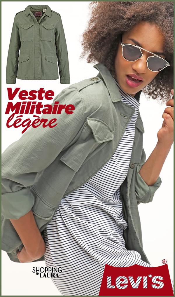 Veste femme militaire légère kaki LEVI'S