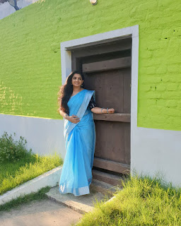 Actress Sujitha Dhanush Latest Saree Photos HD