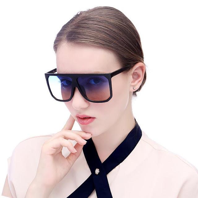 Women's Vintage Square Big Frame Sunglasses