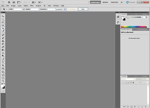 Giao diện Photoshop cs5 portable
