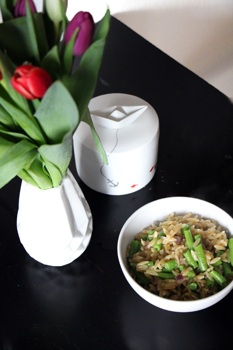 Kritharaki mit grünen Bohnen