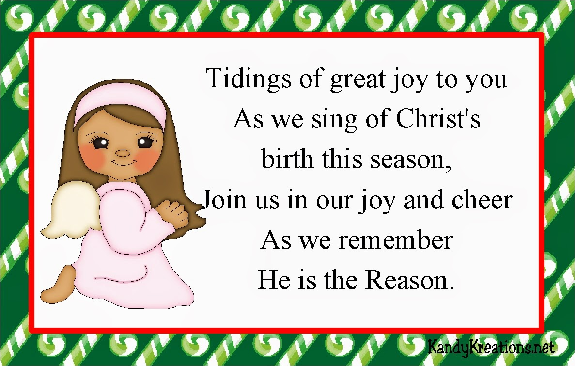 Day 1 of the Christmas Nativity Advent Calendar features the angel singing of Christ's birth and asking all to remember Jesus Christ is the reason for the Christmas season.