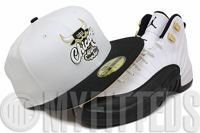 fb5cf8d580e New Era 59FIFTY  Chicago Bulls - Glacial White Jet Black-Metallic Gold- Silver