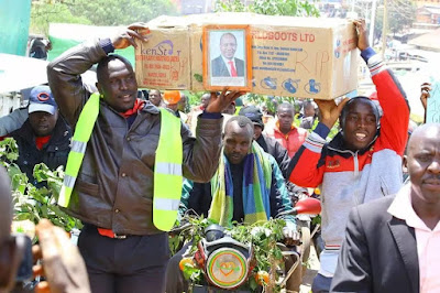 Demonstration in Nyamira. PHOTO | Reuters