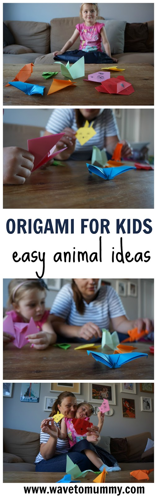 Easy origami ideas for kids - how to make a paper zoo