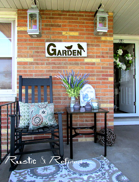 Decorating the front porch for Spring 2016