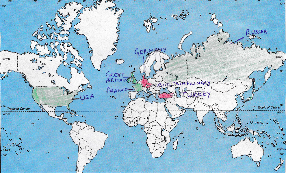 Interactive social science class ix map work outline map of world for locating and labellingidentification gumiabroncs Image collections