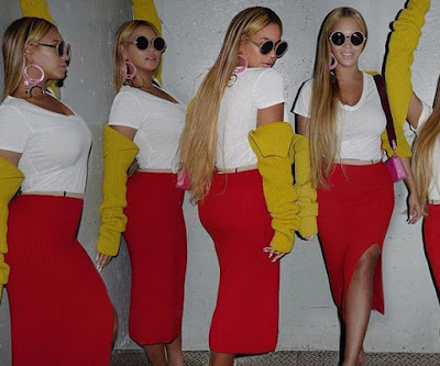 beyonce on red
