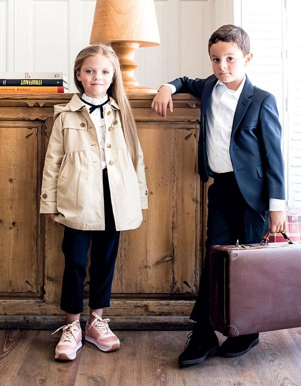 Moda invierno 2018. Sacos, tapados trajes moda invierno 2018. Moda invierno 2018 para niños y niñas.