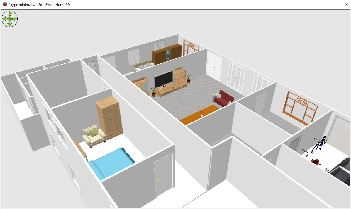 sweet home 3d. aplikasi desain rumah yang ringan - permenilmu
