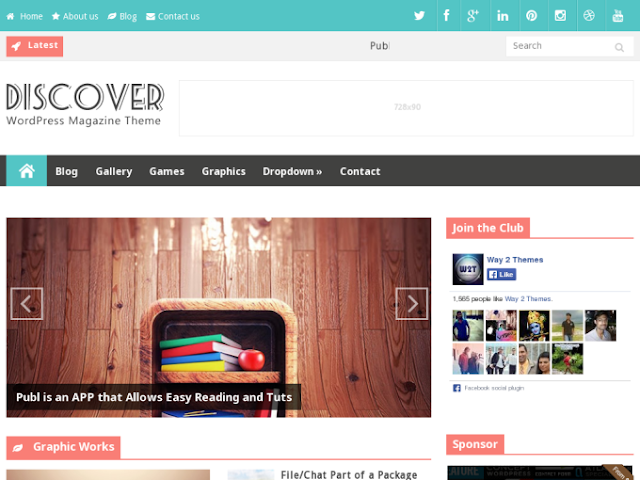 Discover is a free blogger template that is packed with a tons of features like featured slider,featured posts.